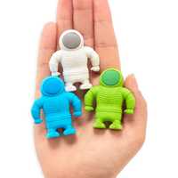 OOLY Astronaut set of 3 erasers out of packaing
