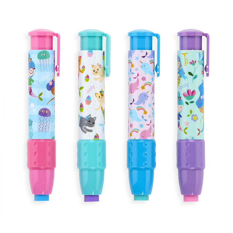 All 4 Mermaid Magic ClickIt Erasers