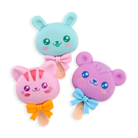 Group shot of Cutie Pop scented erasers with fun animal heads
