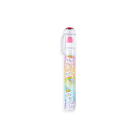 OOLY Rainbow Gem Stacking Strawberry Scented Eraser - hot pink
