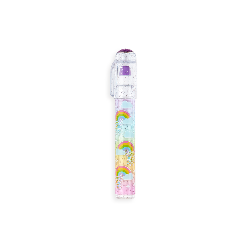 OOLY Rainbow Gem Stacking Strawberry Scented Eraser - purple