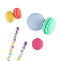 Le Macaron Patisserie Scented Erasers mixed with sweet treat pencils.