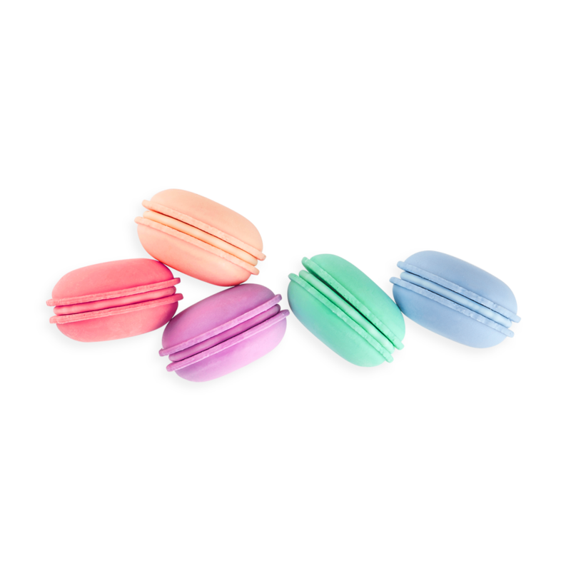 OOLY Le Macaron Patisserie Erasers without packaging