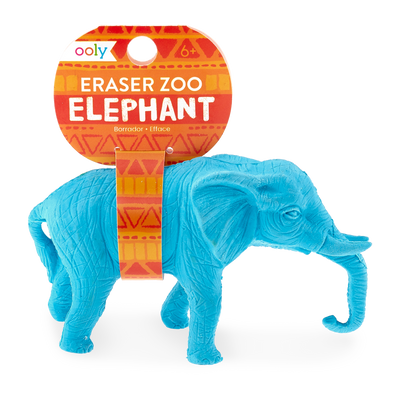 Elephant zoo eraser with tag