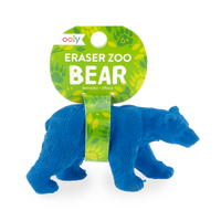 Bear zoo eraser with tag