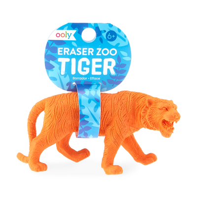 Tiger zoo eraser with tag