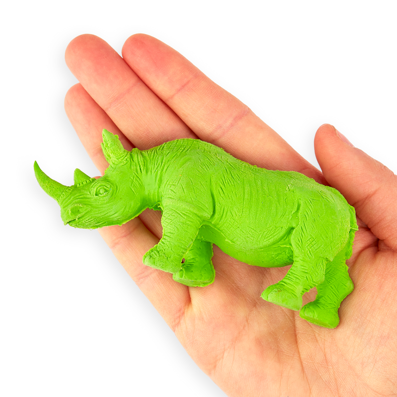 Rhino Erasers in hand