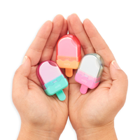 person holding Icy Pop Erasers in hands