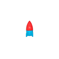 OOLY Blast Off Eraser Sharpeners and eraser in red