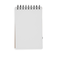Small White DIY Cover Sketchbook flipped open to blank page