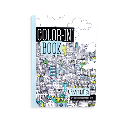 Color-in Book Travel Sized Urban Cities