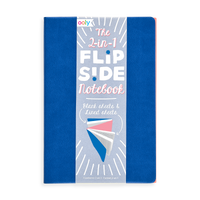 Blue 2-in-1 Flipside Notebooks with 2 different notebooks in one set