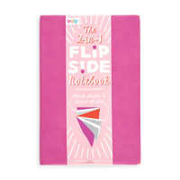 Hot Pink 2-in-1 Flipside Notebooks with 2 different notebooks in one set