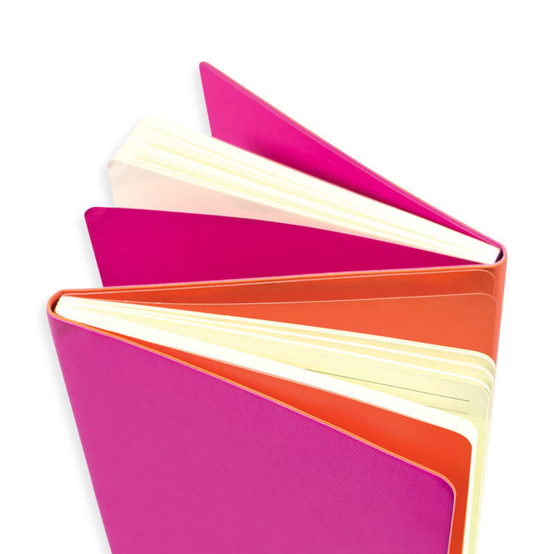 Opened hot pink Flipside 2-in-1 Notebook