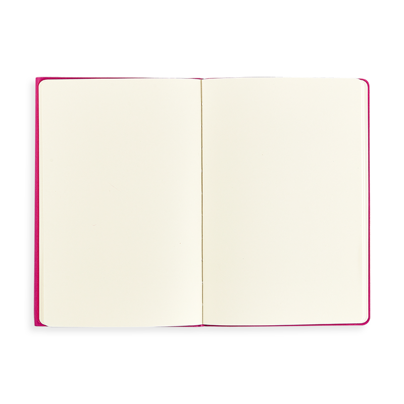 Open Flipside Notebook showing blank pages
