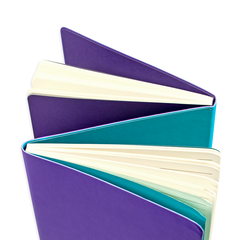 Opened purple Flipside 2-in-1 Notebook