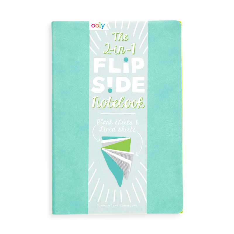 Teal 2-in-1 Flipside Notebooks with 2 different notebooks in one set