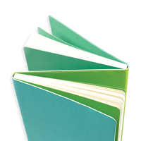 Opened teal Flipside 2-in-1 Notebook