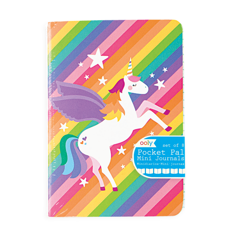 Image of Unique Unicorn Pocket Pal Journals in packaging