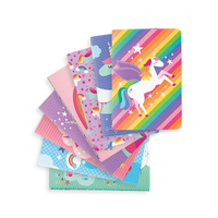8 fanned Unique Unicorn Pocket Pal Notebooks