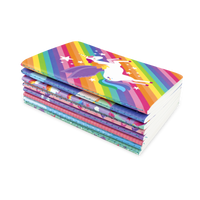 8 stacked Unique Unicorn Pocket Pal Notebooks