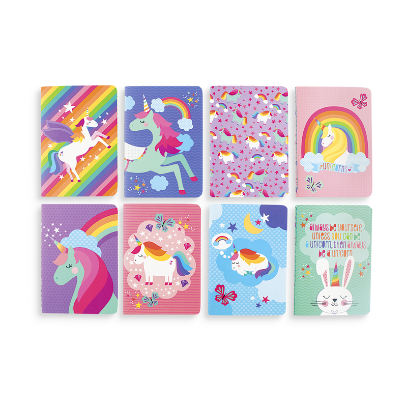 Set of 8 Unique Unicorns Pocket Pal pocket notebooks