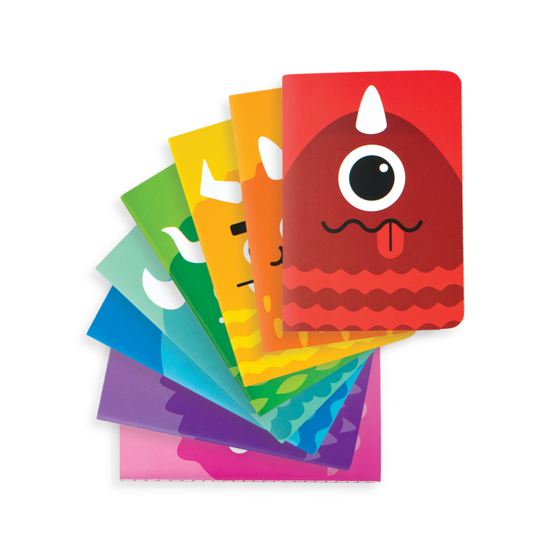 OOLY Mini pocket journal  Monster set of 8 stacked