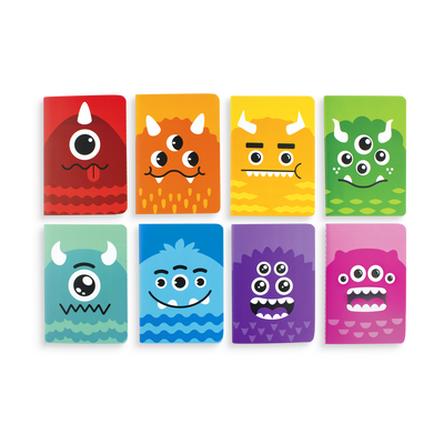 Set of 8 Monster Tales pocket notebooks