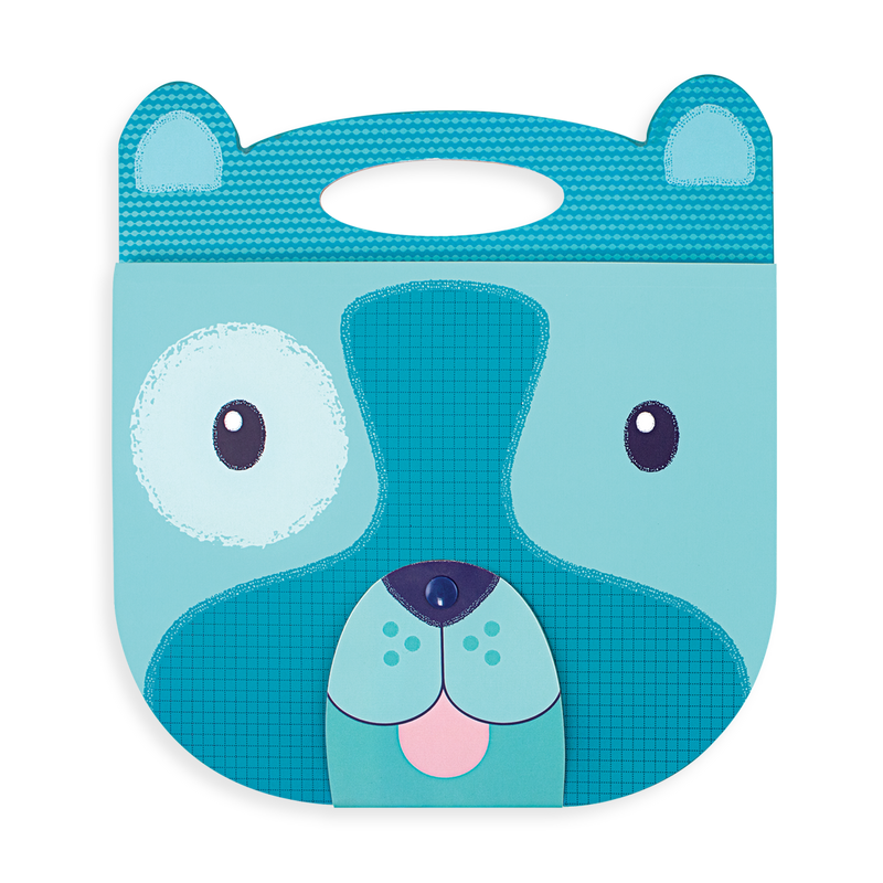 Blue Dog Carry Along Sketchbook with cute nose closure