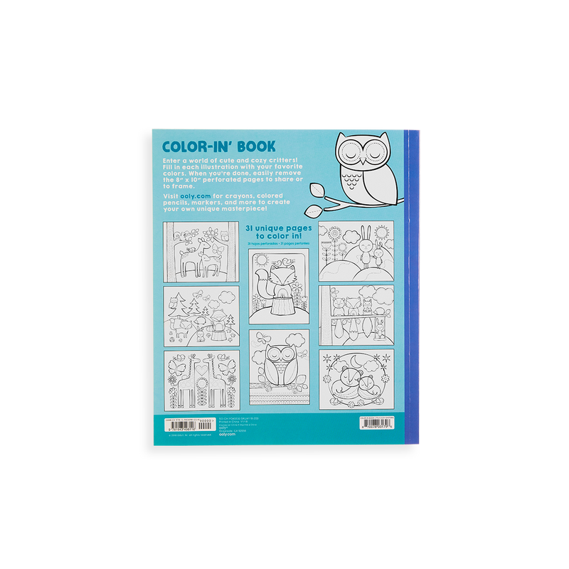 Little Cozy Critters Coloring Book back cover