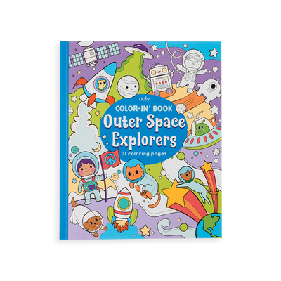 Outer Space Explorers Coloring Book front cover