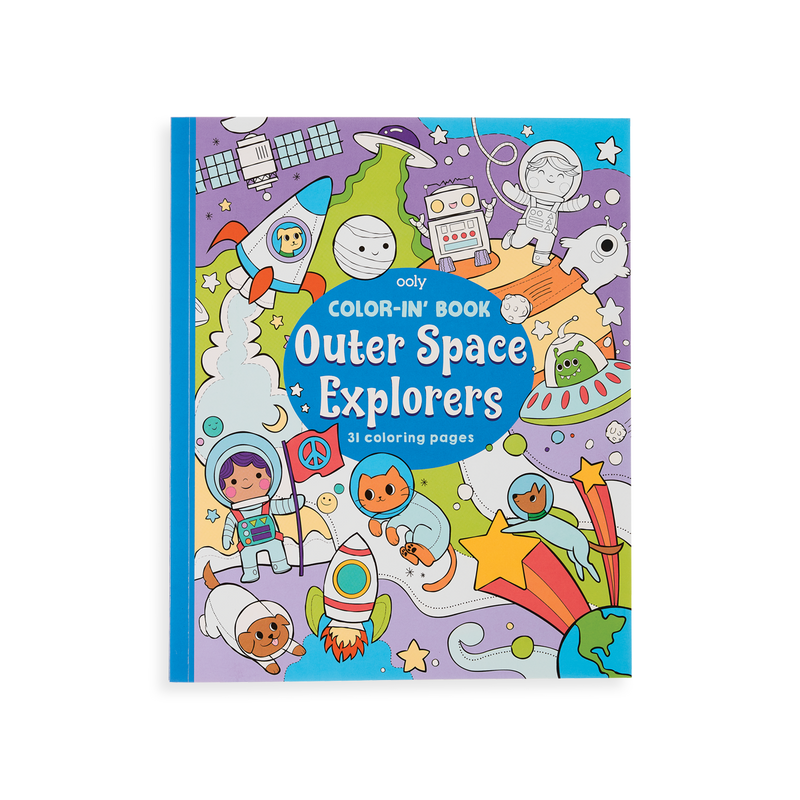 OOLY Outer Space Explorer coloring book