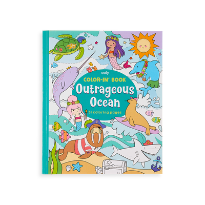 Outrageous Ocean Coloring Book front cover