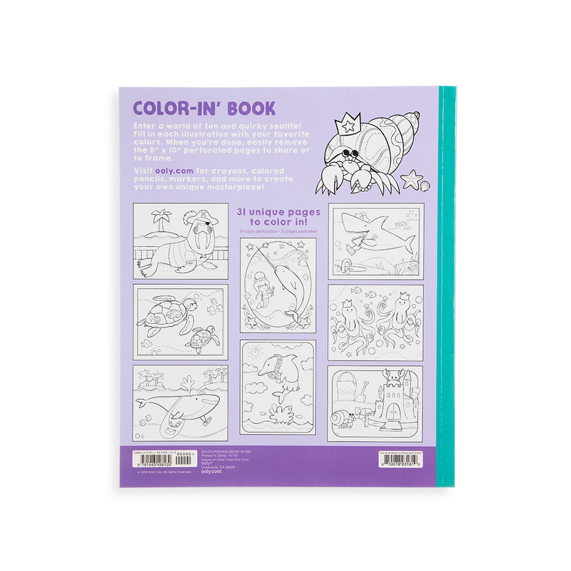 Outrageous Ocean Coloring Book - OOLY