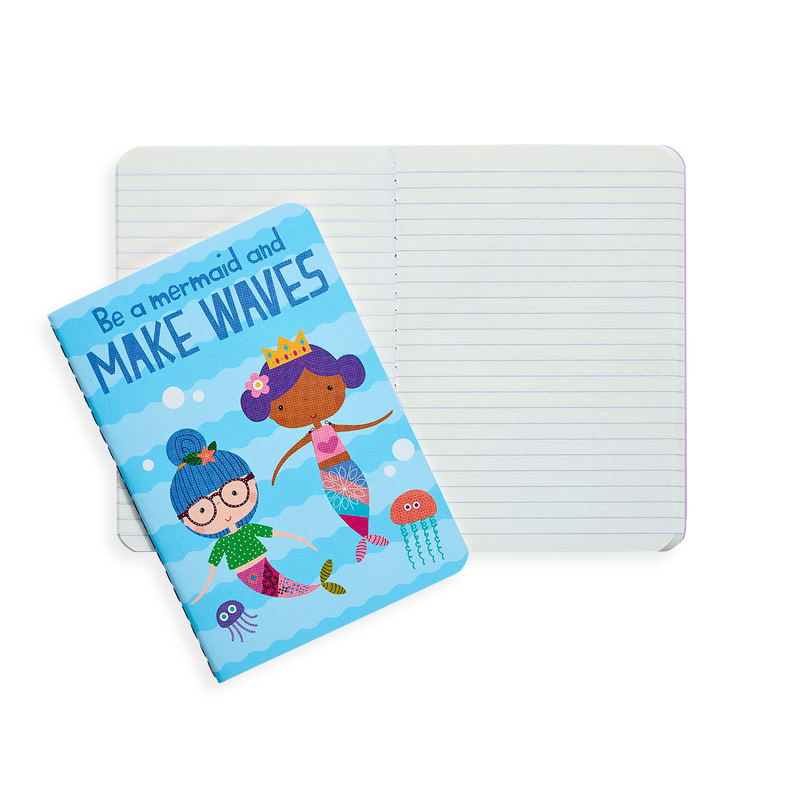 Mermaid Magic pocket notebook with lined paper and inspirational messaging