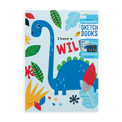Product image of OOLY Dino Days Doodle Pad Duo Sketchbook Vertical book