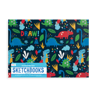 Product image of OOLY Dino Days Doodle Pad Duo Sketchbook horizontal book