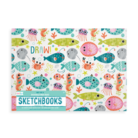 Side one of OOLY Friendly Fish Doodle Pad