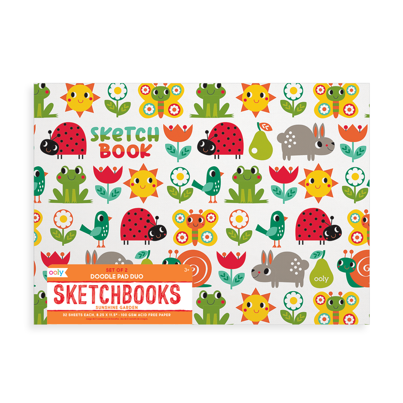 Sunshine Garden Doodle Pad Duo Sketchbooks - Set of 2