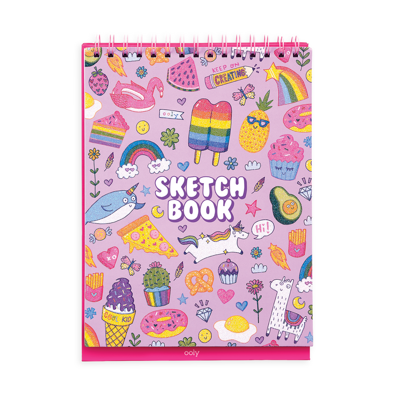 Cute Doodles Sketch and Show Standing Sketchbook cover