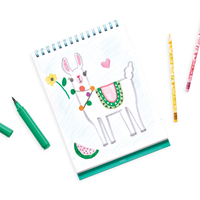 Drawing of a llama in the Sketch and Show Standing Sketchbook