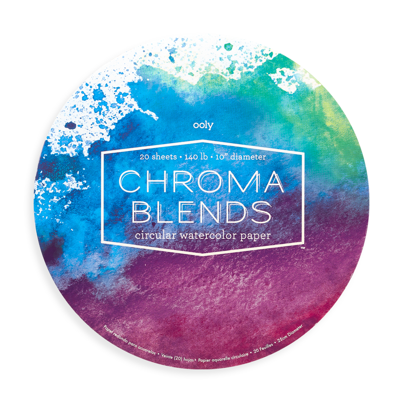 OOLY Chroma Blends Circular Watercolor Paper (front)