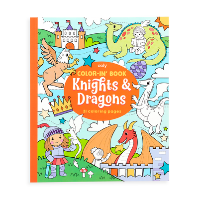 OOLY Knights and Dragons Coloring Book front cover