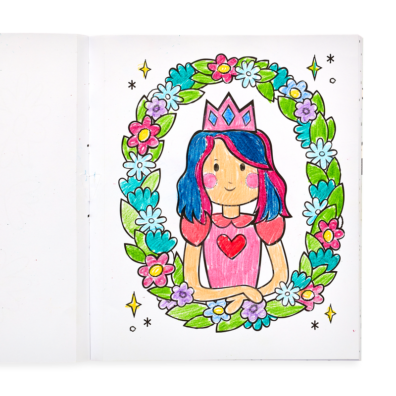 Drawing in the Princesses and Fairies Coloring Book