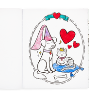 Crayon drawing of in the OOLY Princesses and Fairies Coloring Book