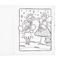 Coloring page in the Princesses and Fairies Coloring Book