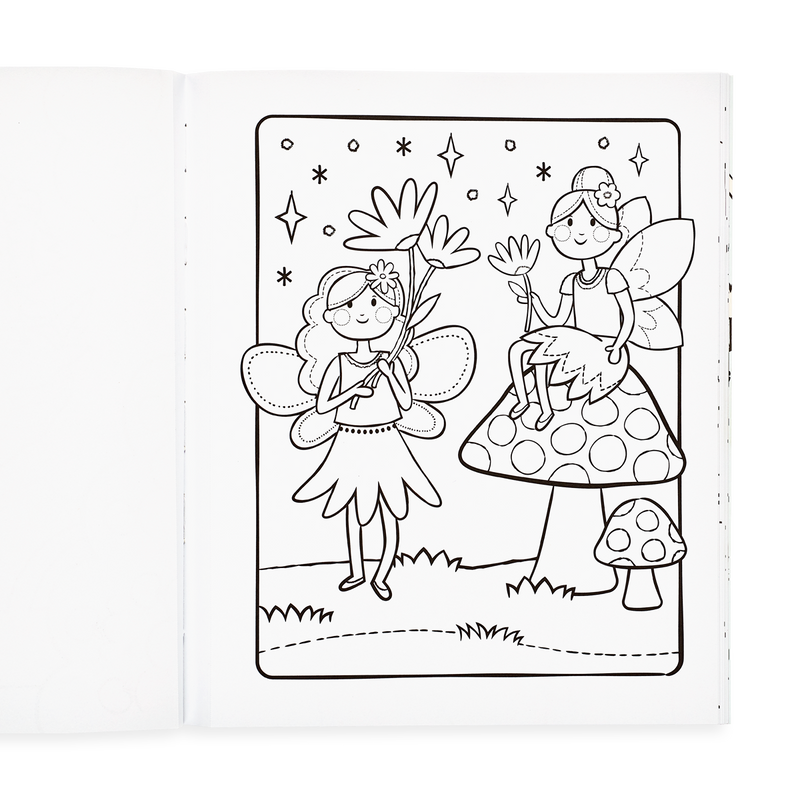 Princesses And Fairies Coloring Book Ooly