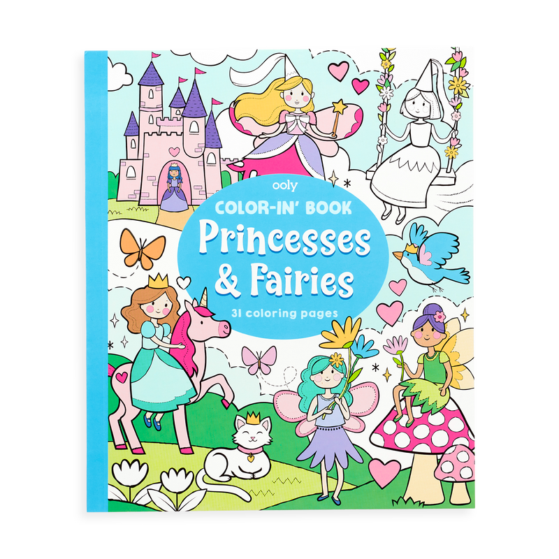 Princesses And Fairies Coloring Book - OOLY