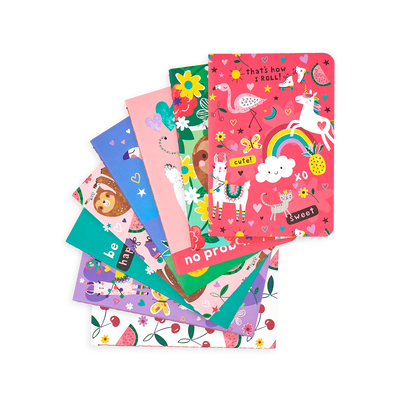Funtastic Friends Pocket Pal Journals spanned out