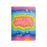 front of OOLY Jot It Notebook Radiate Happiness